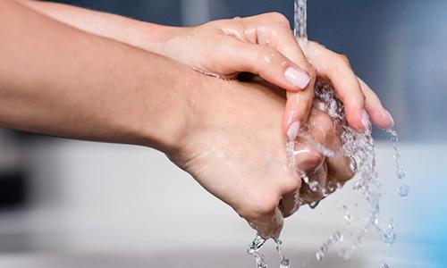 手洗い後の除菌